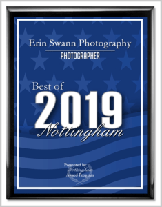 2019 Best of Nottingham Award for Erin Swann Photography
