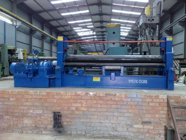 CROWN hydraulic three roll universal bending rolls with prebending. 12X3000mm