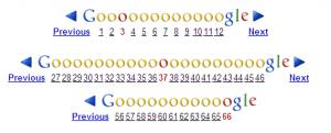 Google progressive page pagination