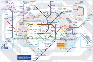 The Famous Colour London Tube Map