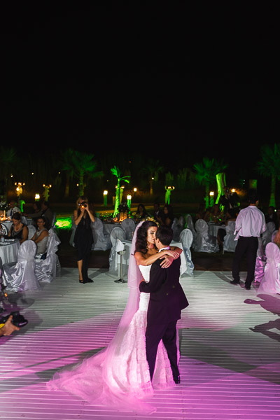 Bride and groom first dance at Hilton Dalaman destination wedding