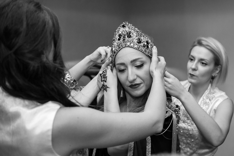 Getting ready before henna ceremony