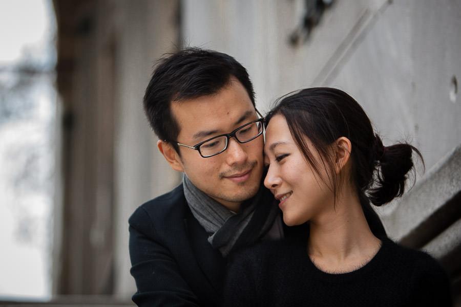 çinli çift ile nişan fotoğrafları