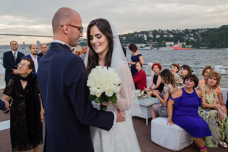 first dance at wedding on the bosphorus