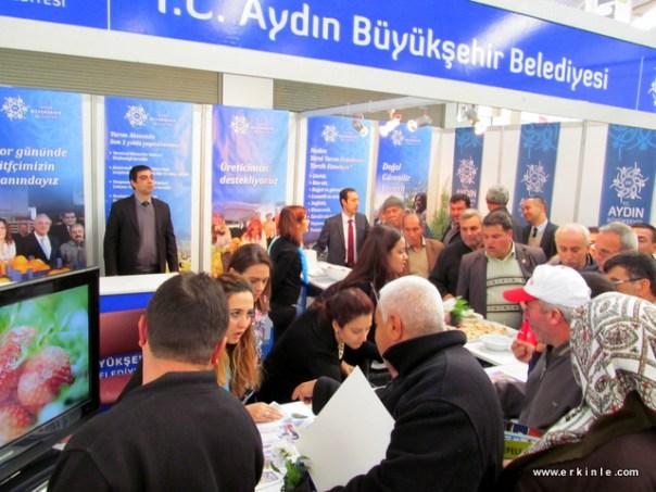 Aydın büyükşehir belediyesinin Fuardaki standı