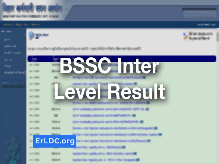 BSSC Inter Level Result