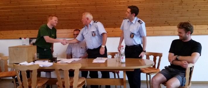Unser alter und neuer Wehrführer der Feuerwehr Erlenbach ist Jochen Nuß