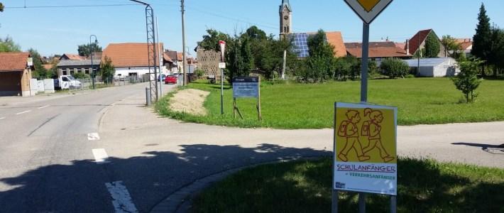 ACHTUNG Schulanfänger = Verkehrsanfänger, auch in Erlenbach