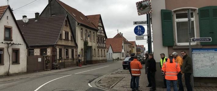 Vorort Termin anlässlich der geplanten Bushaltestellen in der Haynaerstraße