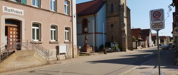 "Es gilt nun – ""Tempo 30 Zone"" in ganz Erlenbach"