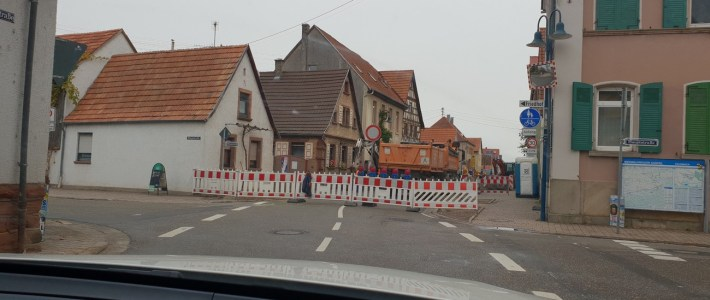 HINWEIS: Bauarbeiten sind gestartet – die Ortsdurchfahrt Erlenbach ist voll gesperrt!