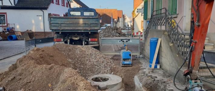 Aktuelle Baustellen – Situation – die Arbeiten kommen gut voran