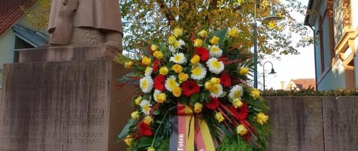 Kirche – und Ortsgemeidnde Gedenken gemeinsam am Volkstrauertag der Toten
