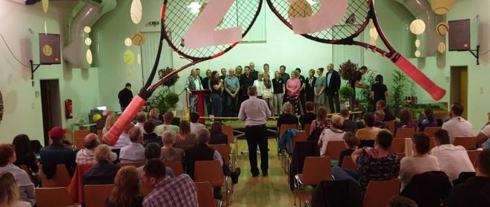 Die Gemeinde gratuliert zum 25 jährigen Vereinsjubiläum des TC Erlenbach