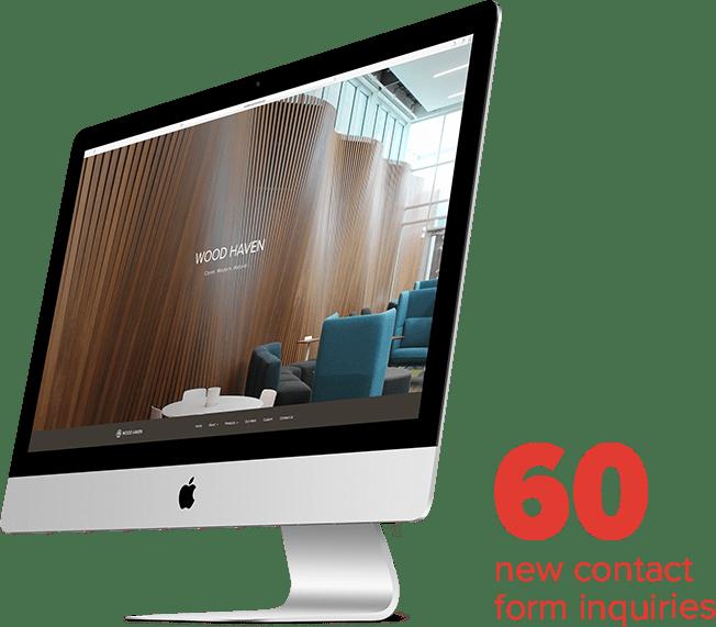 Wood Haven desktop mockup