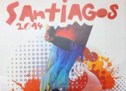 """""""Salpícate de fiesta"""" cartel ganador de los Santiagos 2014"""