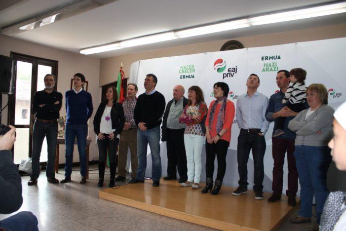 Jol Gisasola presentado por EAJ-PNV como candidato a la alcaldía de Ermua