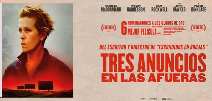 """""""Tres anuncios en las afueras"""", nominada a 7 Oscar, éste finde en el Antzoki"""