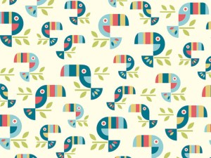 Tucan Tango Fabric von Birch fabric