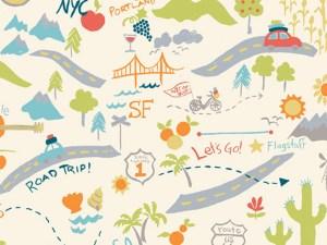 Road Trip Birch Fabrics Stoff