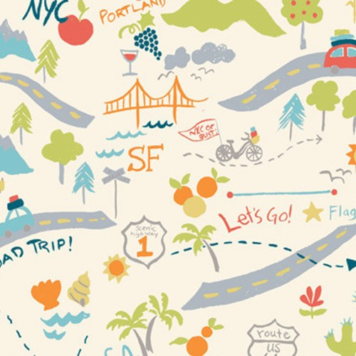 Road Trip Birch Fabrics Stoff