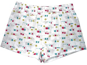 Boxershorts Birch Fabrics Houses fifties Print