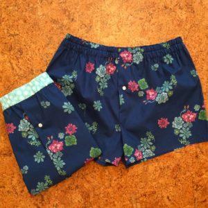 Boxershorts aus dem Stoff Desert Flower von Monaluna Fabrics