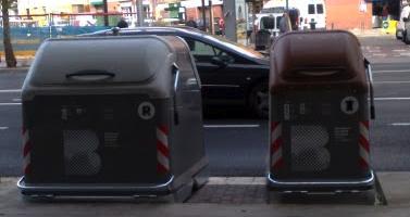 Contenedores de basura barceloneses