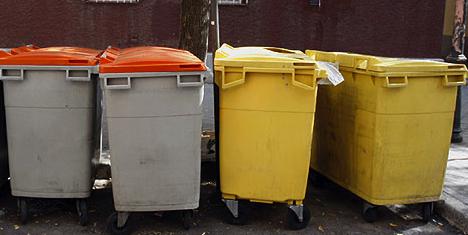 Contenedores de basura madrileños
