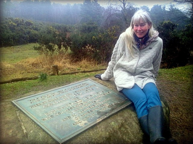 2013 03 09 Jessica at AA Milne Tribute in Ashdown Forest, land of Winnie the Pooh