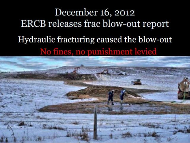 2013 12 16 ERCB now AER report on Innisfail frac blowout No Fines No Punishments levied