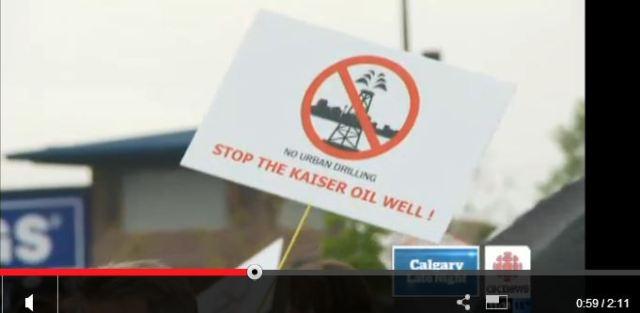 2013 09 01 Kaiser kills Calgary Royal Oak drill and frac for oil 400 metres from homes