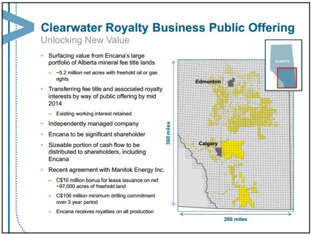 2013 11 05 Clearwater Royalty Business Public Offering snap Encana investorrs presentation