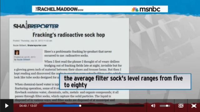 2014 03 14 Radioactive waste illegally dumped in North Dakota Rachel Maddow show Frackings Radioactive Sock Hop
