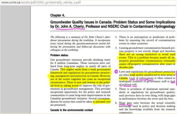 2002 CCME report chapter 4 by dr john cherry hilted