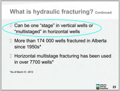 2014 05 24 snap Countenay presentation by Ernst AER brochure vertical and horizontal wells are frac'd