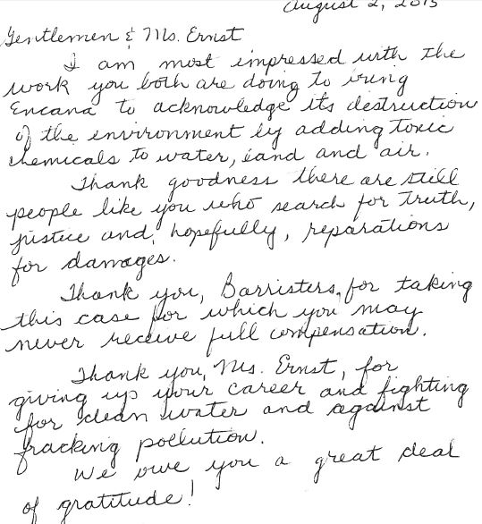 2015 08 02 Donation note, with a great deal of respect to lawyers and Ernst