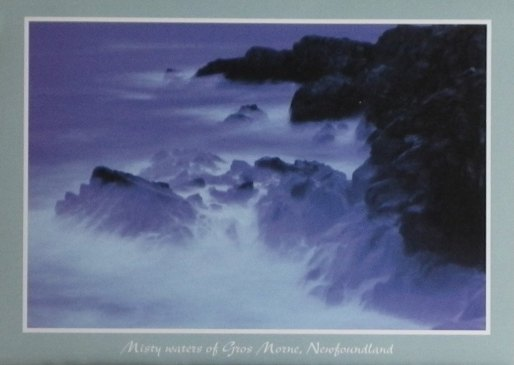 2016 02 23 Donation card from Edm, AB, to Ernst vs Encana lawsuit, Misty waters of Gros Morne, Newfoundland