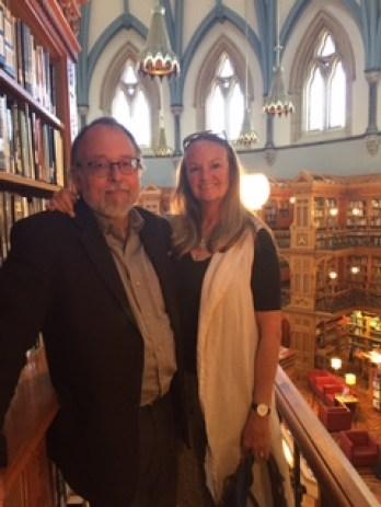 Andrew Nikiforuk & Doreen Docherty in Canada's Parliamentary Library