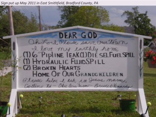 Dear God, May2011BradfordCountyPA