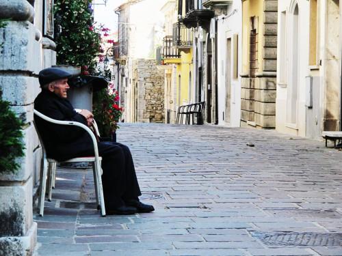 Corso Umberto I a Monteleone di Puglia