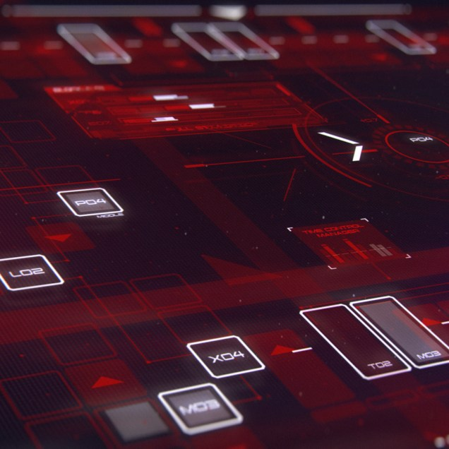 Control Screen - Sci-Fi Interface and device concept