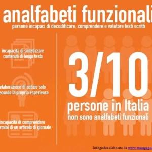 Analfabetismo funzionale, fenomeno nuovo ma in crescita in Italia