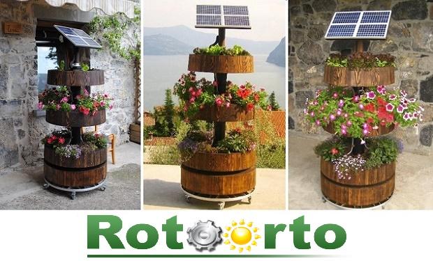 Rotoorto: il giardino girevole da balcone evi