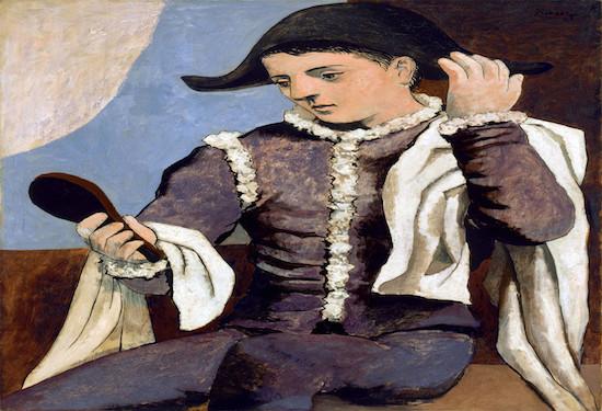 arlecchino con specchio di picasso a Palazzo Zevallos