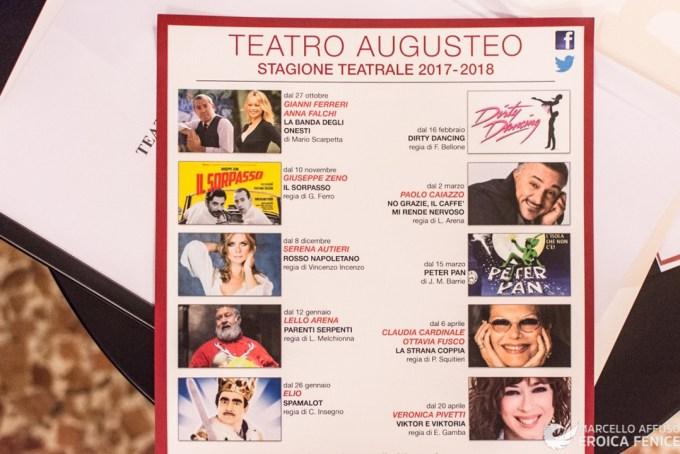 Teatro Augusteo, presentata la nuova stagione teatrale