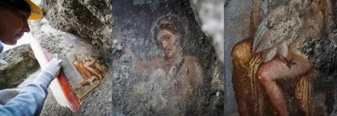 Leda e il cigno, riemerso l'affresco a Pompei