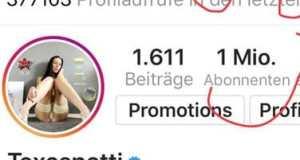 Instagram: Eine Million Fans bei Texas Patti