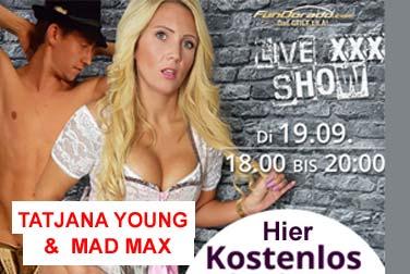 Tatjana Young live mit Partner Mad Max