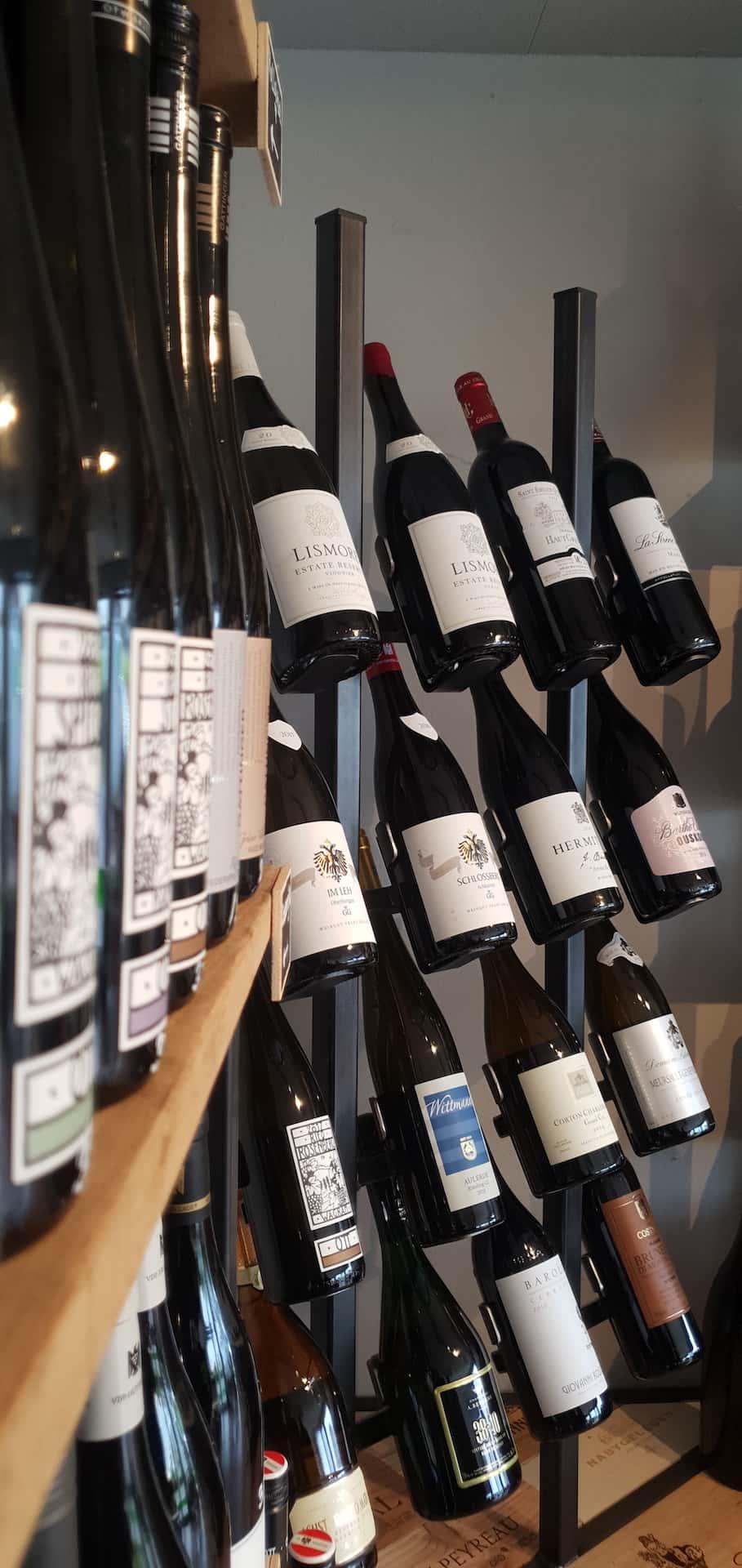 Stalen wijnkast voor 16 flessen